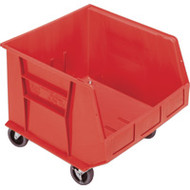 "CD671 HD MOBILE Plastic Bins (RED) 16.5""Wx18""Dx14""H"