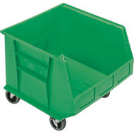 "CD672 HD MOBILE Plastic Bins (GREEN) 16.5""Wx18""Dx14""H"