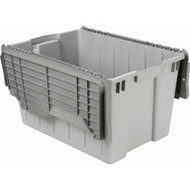 "CD459 Plastic Containers (GREY flip top) 21.5""Lx15""Wx12.5""H"
