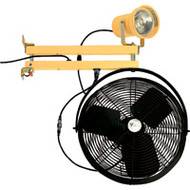 "XA628 DBL Strut w/Fan (incandescent/metal head/40"" arm)"