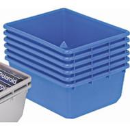 "CD434 Nesting Plastic Totes/Bins (BLUE) 24.5""Lx19""Wx9.5""H"