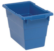 "CD583 Cross Stack Plastic Bins (BLUE) 17-1/4""Lx11""Wx12""H"