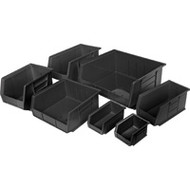 "CF434 RECYCLED Bins (BLACK) 4-1/8""Wx5-3/8""Dx3""H"