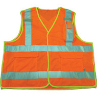 SAR621 Mesh Surveyors Safety Vests (2X-Large)