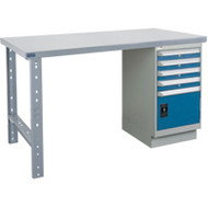 "FI633 Workbenches (steel-wood fill tops) 36""Wx60""Lx34""H"