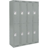 FJ158 Steel Lockers 2 tiers4 banks