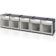 """CF473 HD 5-bin Tilt Bins 23-1/2""""Wx4""""Dx5-7/8""""H"""