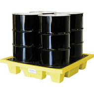 SE409 Drum Spill Pallets (with drain/4-drum SQ system)