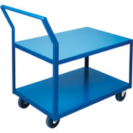 Utility Shelf Carts Low Profile HD (Rubber Casters)