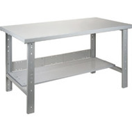 "FF706 Workbenches (w/steel/wood-fill tops) 36""Wx60""Lx34""H"