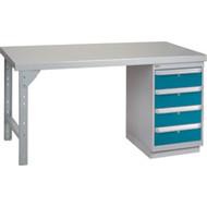 "FG276 Workbenches (steel-wood fill tops) 36""Wx60""Lx34""H"