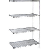 "RL086 Chromate Shelving ADD-ON 48""Wx24""Dx74"""