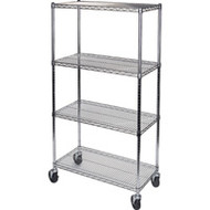 "MJ531 Chromate Shelf Carts  48""Wx24""Dx74""H"