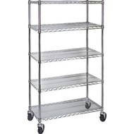 "MJ534 Chromate Shelf Carts  48""Wx18""Dx86""H"
