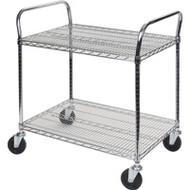 "MK785 Chromate Carts 2-shelf 36""Wx24""x39""H"