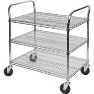 "MJ544 Chromate Carts 3-shelf 48""Wx24""x39""H"