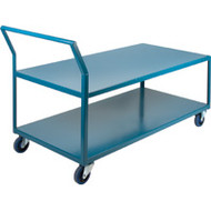 "MB434 HD Shelf Carts Low Profile30""Wx60""Dx40""H"