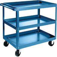 """MB487 Shelf Carts 3 shelves 24""""Wx48""""Dx36""""H"""