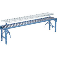 """MA166 Steel Roller Conveyors (18""""Wx10'L) 4.5""""-o/c"""