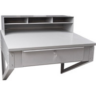 "FI518 Shop Desks wall-mounted 34.5""Wx30""Dx19"""