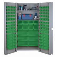 "CF357 Storage Cabinets Green bins38""Wx24""Dx72""H"