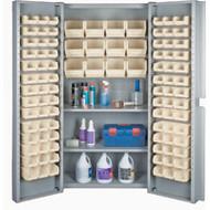 "CF375 Storage Cabinets Stone bins38""Wx24""Dx72""H"