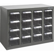 "CF305 16 clear drawers18.3""Wx8.7""Dx13.8""H"