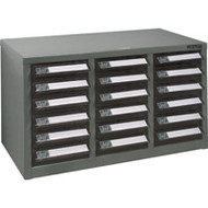 "CF293 18 clear drawers21.3""Wx10.4""Dx12.2""H"