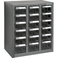 "CF311 18 clear drawers13.9""Wx8.7""Dx16.3""H"