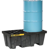 SBA845 Drum Spill Pallets 2-drumWith drain