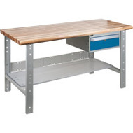 "FG281 Workbenches (laminated wood tops) 24""Wx60""Lx34""H"