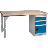 "FG090 Workbenches (laminated wood tops) 24""Wx60""Lx34""H"