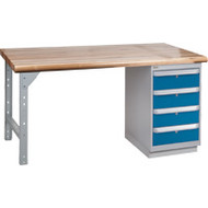 "FG266 Workbenches (laminated wood tops) 30""Wx60""Lx34""H"