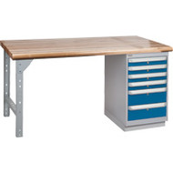 "FG638 Workbenches (laminated wood tops) 30""Wx60""Lx34""H"