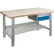 "FH886 Workbenches (shop grade wood tops) 24""Wx60""Lx34""H"