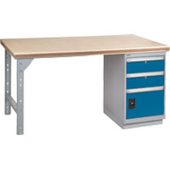 "FG113 Workbenches (shop grade wood tops) 30""Wx60""Lx34""H"
