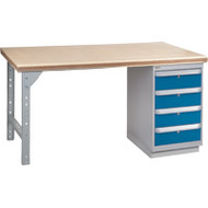 "FG278 Workbenches (shop grade wood tops) 30""Wx60""Lx34""H"