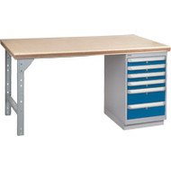 "FH897 Workbenches (shop grade wood tops) 36""Wx60""Lx34""H"