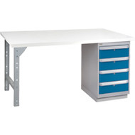 "FH895 Workbenches (laminated plastic tops) 36""Wx60""Lx34""H"