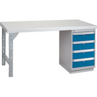 "FG270 Workbenches (laminated plastic tops) 30""Wx60""Lx34""H"