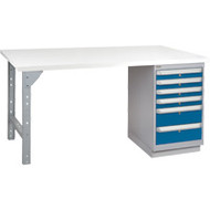 """FG650 Workbenches (laminated plastic tops) 30""""Wx60""""Lx34""""H"""
