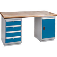 """FG120 Workbenches (laminated wood tops) 30""""Wx60""""Lx34""""H"""