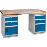 "FG237 Workbenches (laminated wood tops) 36""Wx72""Lx34""H"