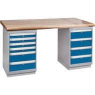 """FG620 Workbenches (laminated wood tops) 36""""Wx60""""Lx34""""H"""