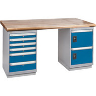 """FG462 Workbenches (laminated wood tops) 30""""Wx60""""Lx34""""H"""