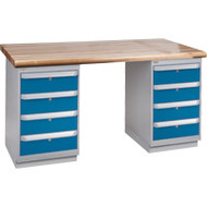 """FG220 Workbenches (laminated wood tops) 36""""Wx60""""Lx34""""H"""