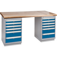 """FG416 Workbenches (laminated wood tops) 24""""Wx60""""Lx34""""H"""