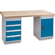 """FG141 Workbenches (shop grade wood tops) 30""""Wx60""""Lx34""""H"""