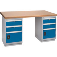 """FH905 Workbenches (shop grade wood tops) 36""""Wx60""""Lx34""""H"""