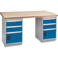 """FH906 Workbenches (shop grade wood tops) 24""""Wx60""""Lx34""""H"""
